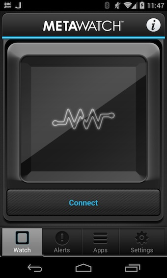 Application MetaWatch sur Android