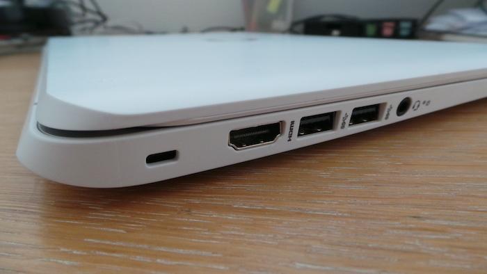 Côté gauche du Chromebook HP 14