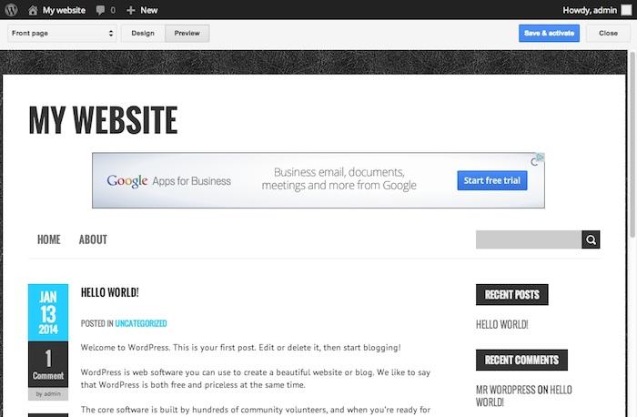L'inclusion d'AdSense sur WordPress est vraiment facilitée