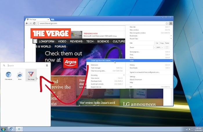 Ajouter n'importe quel site au lanceur d'applications Chrome