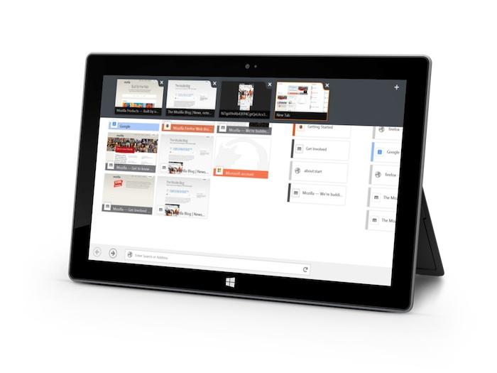 Au revoir, Internet Explorer ! Firefox pour Windows 8 tactile en bêta est arrivé