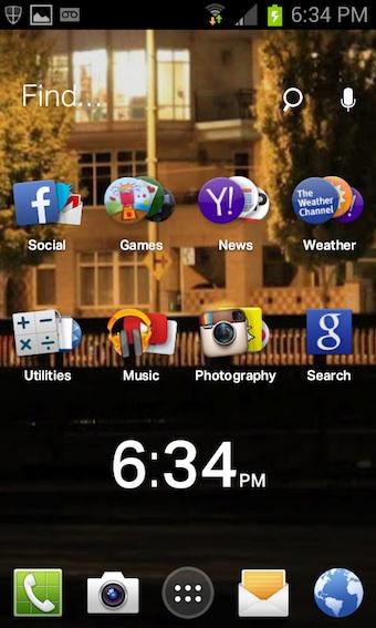 EverythingMe permet de personnaliser votre écran d'accueil