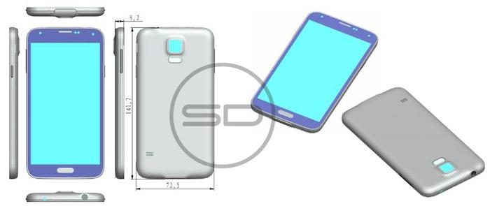 Galaxy S5 : une image révèle sa conception, identique au Galaxy S4
