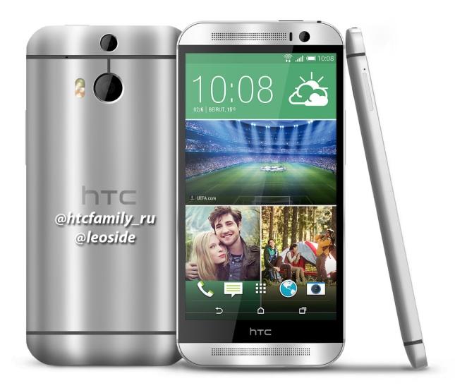 Rendu de presse du HTC M8
