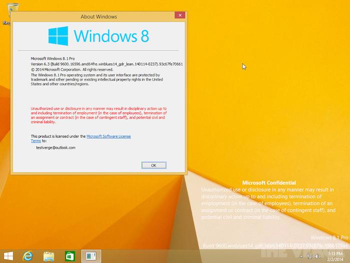Windows 8.1 Update 1 s'est retrouvé sur les sites de partage de fichiers