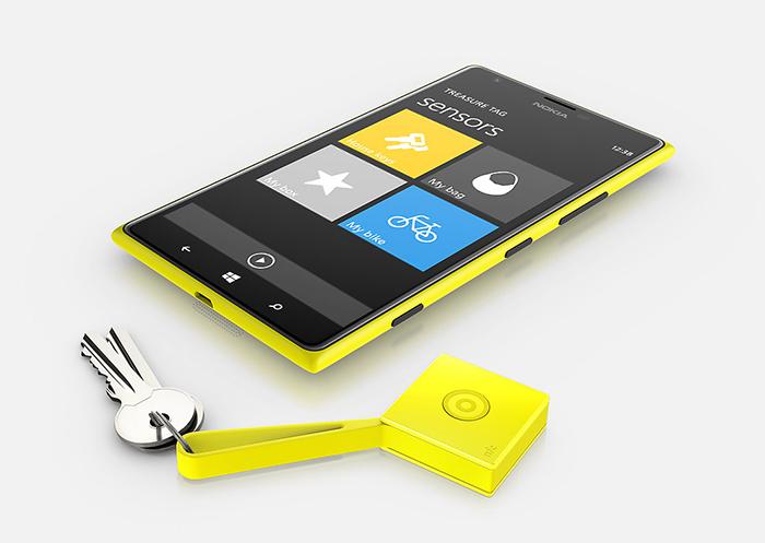 Le Treasure Tag est relié à votre smartphone via la connectivité Bluetooth ou NFC
