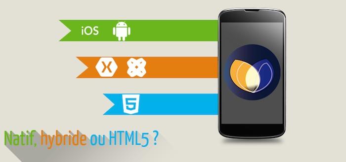 Quelles solutions pour créer votre application mobile : natif, hybride ou HTML5 ?