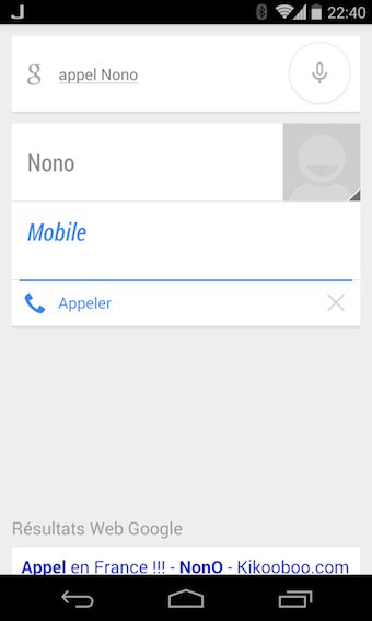Google Now passer un appel