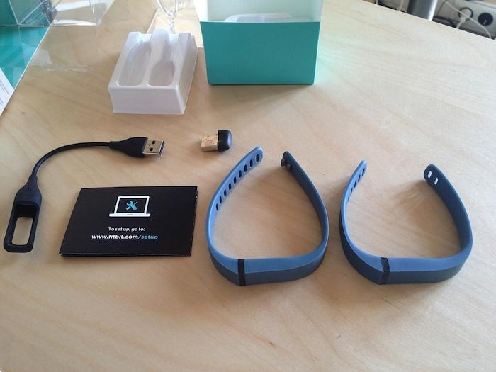 Contenu de la boîte du Fitbit Flex