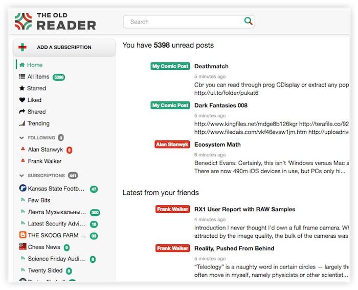 The Old Reader lance une version Premium à 30 dollars par an