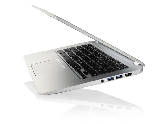 Toshiba Chromebook vue de côté