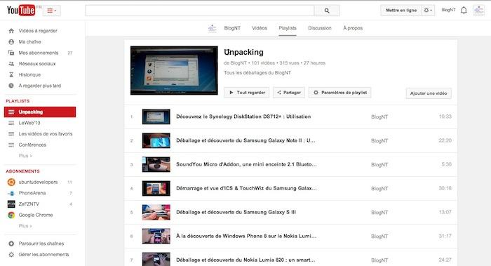 Une nouvelle interface pour YouTube