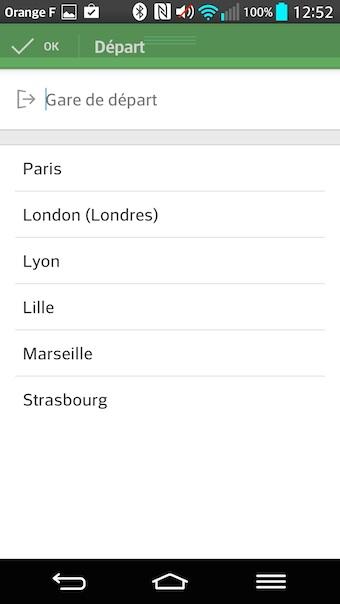 Recherche d'une liste de ville