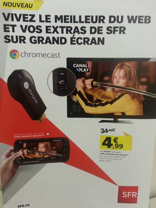 Chromecast : un lancement officiel prévu cette semaine en France