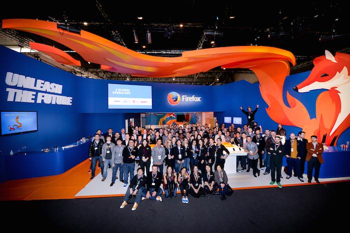 Équipe Mozilla au Mobile World Congress
