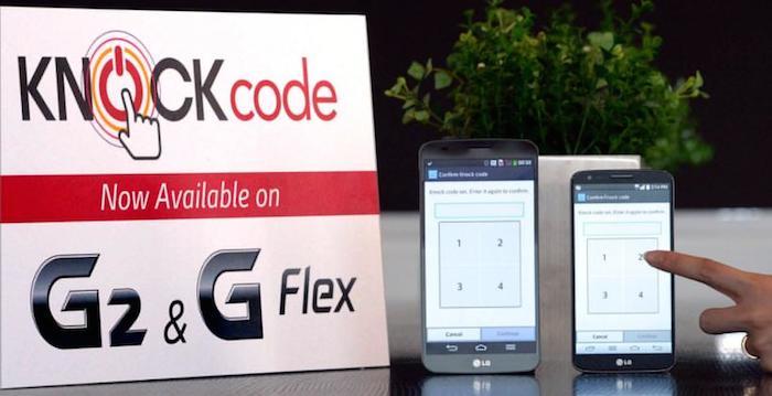 LG ajoute la sécurité Knock Code à son LG G2 et son G Flex