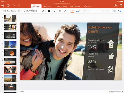 Office pour iPad - PowerPoint