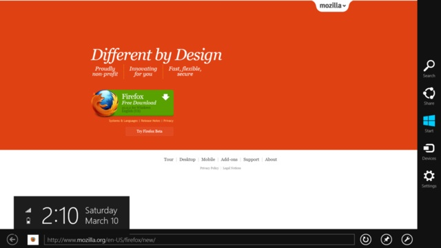 Mozilla abandonne de porter Firefox pour Windows 8 Metro