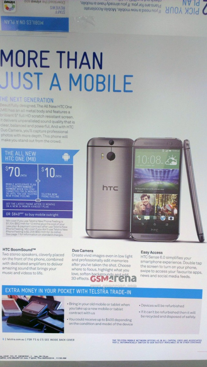 Brochure détaillant le The All New HTC One