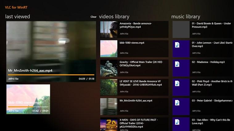 VLC Beta arrive sur Windows 8 avec un lecteur multimédia tactile convivial