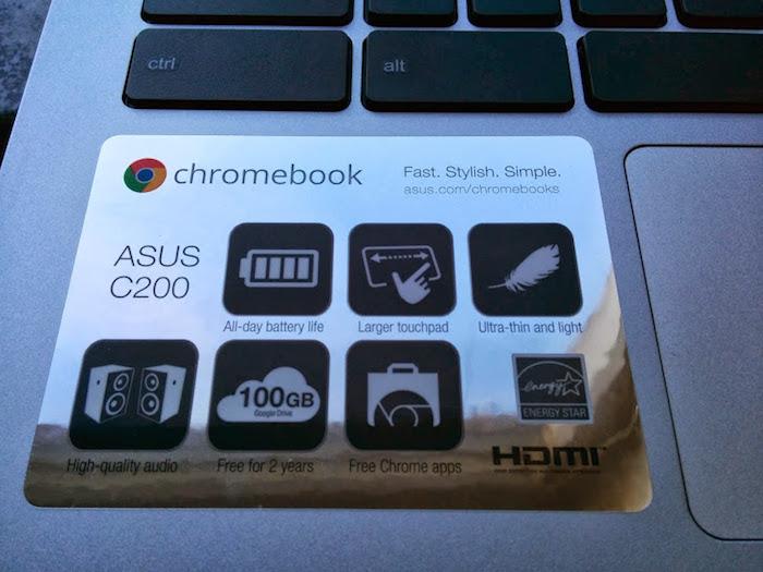 Points forts du Asus Chromebook C200