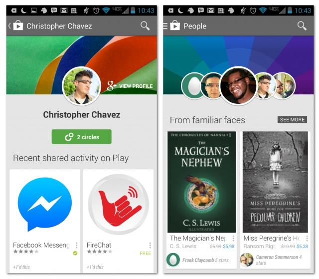 Google Play affiche les recommandations d'apps de vos amis