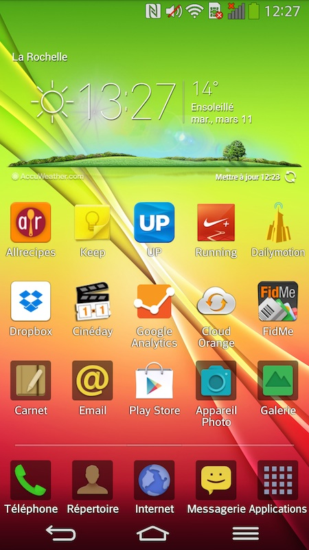 Surcouche LG Android