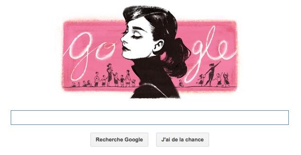 Audrey Hepburn en doodle du jour