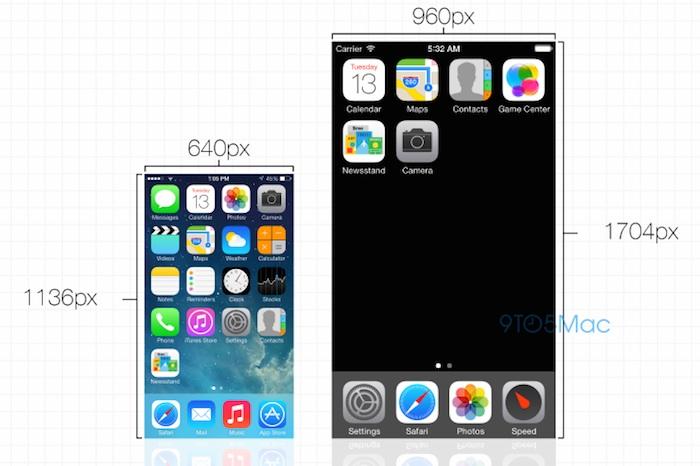 iOS 8 : passage à une résolution de 1704 × 960 pixels