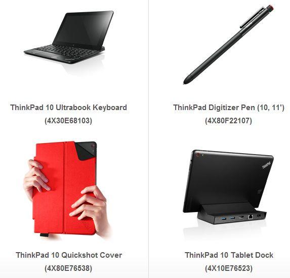 Lenovo ThinkPad 10 : accessoires