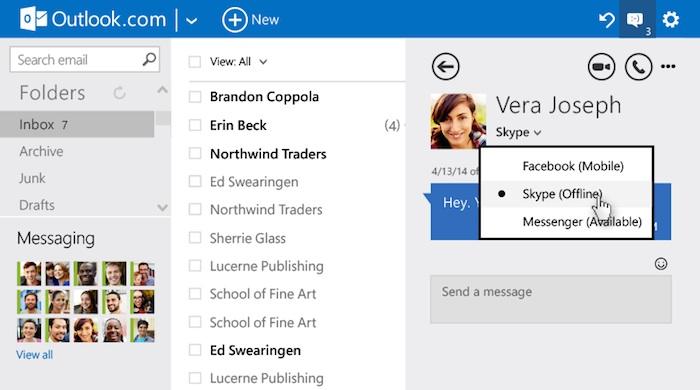 Conversations dans Outlook.com