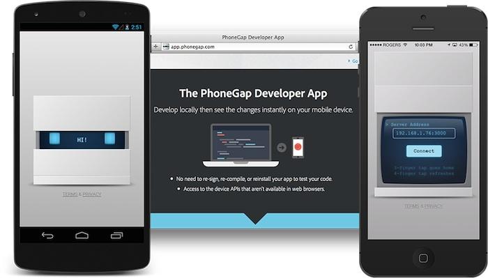 PhoneGap Developer App apporte une nouvelle façon de travailler