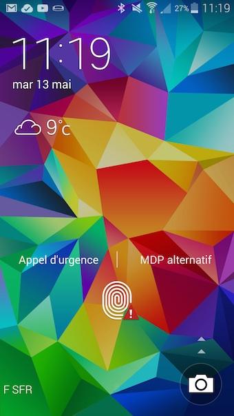 Écran d'accueil de TouchWiz