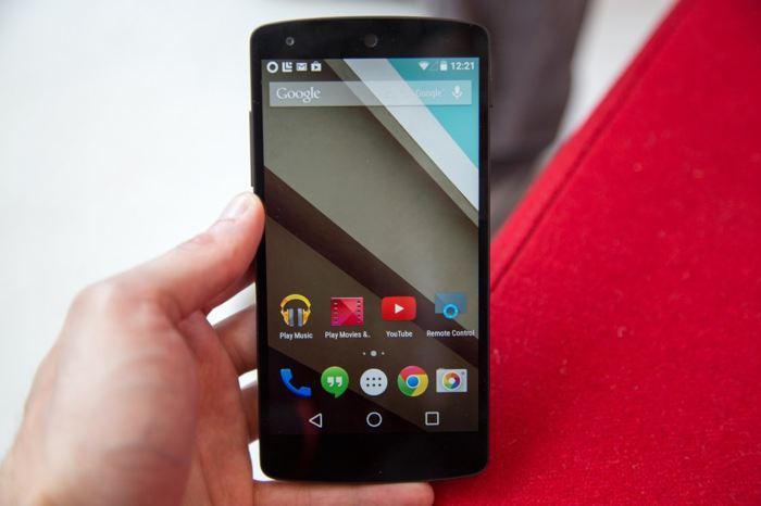 Android L : écran d'accueil