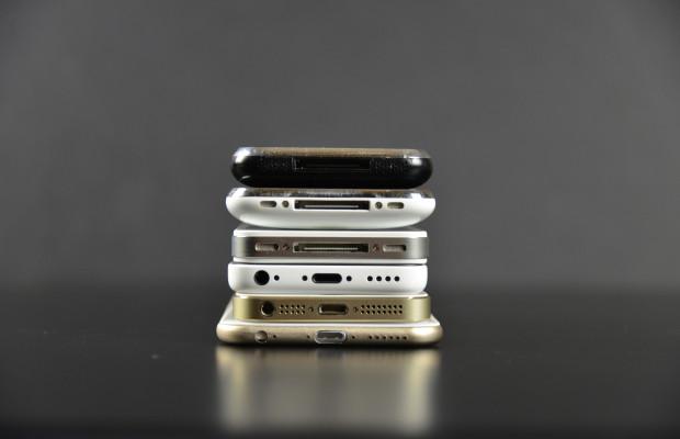 Iphone 6 taille comparaison et coloris vert - Taille iphone 6 en cm ...