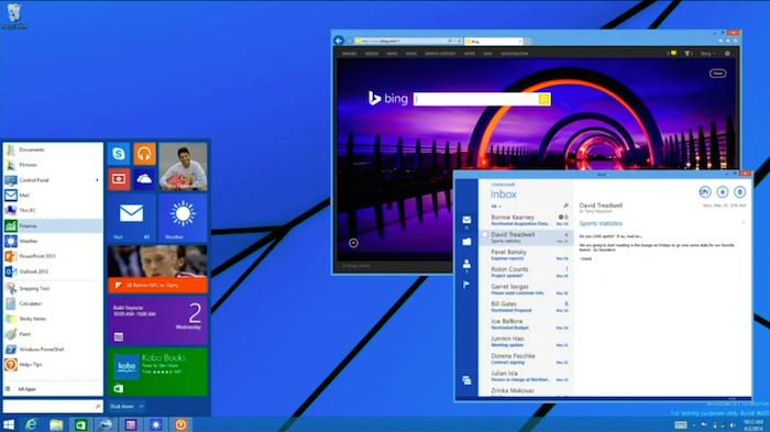 Le nouveau menu Démarrer pour Windows n'arrivera pas avant 2015