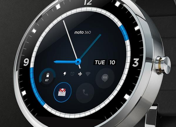 Concept d'interface de la Moto 360