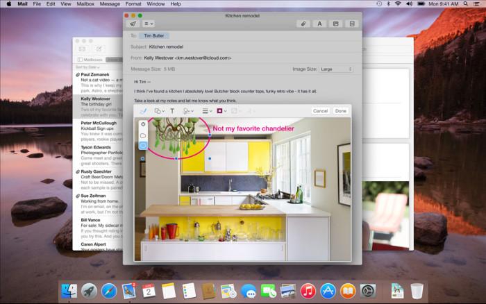 OS X Yosemite : Mark up dans Mail
