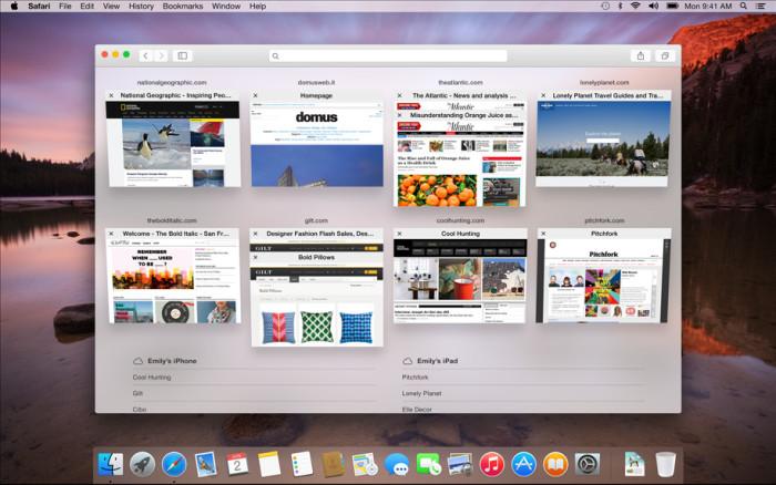 OS X Yosemite : Safari