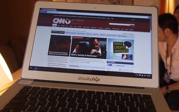 Rockchip montre un Chromebook avec un processeur RK3288