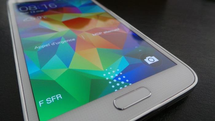 Galaxy S5 : touches sous l'écran
