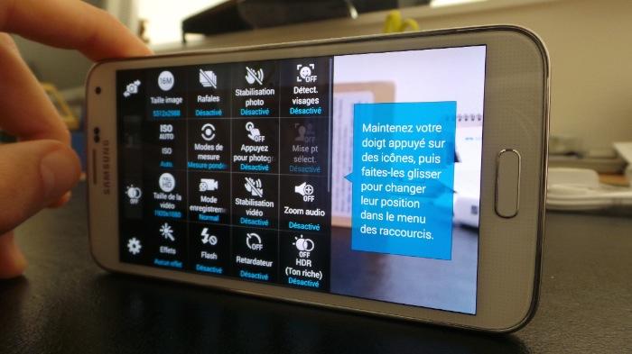 Galaxy S5 : appareil photo
