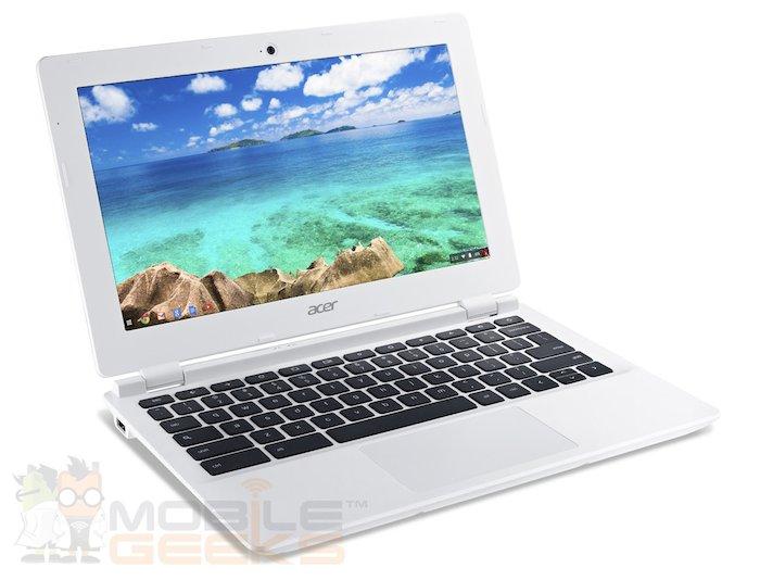 Acer Chromebook 11 : vue de 3/4 gauche