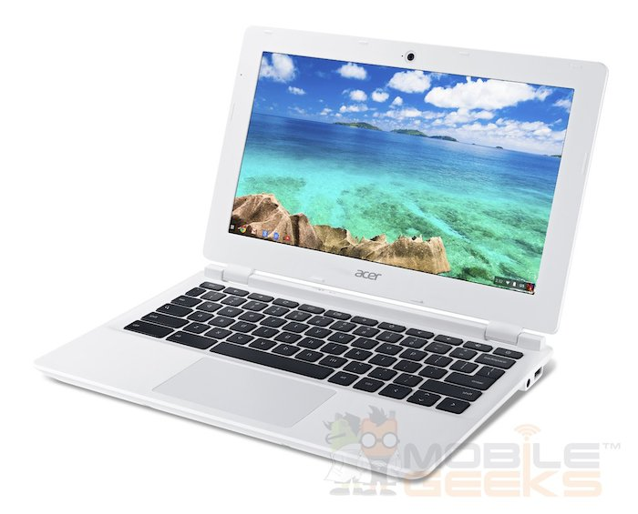 Acer Chromebook 11 : vue de 3/4 droit