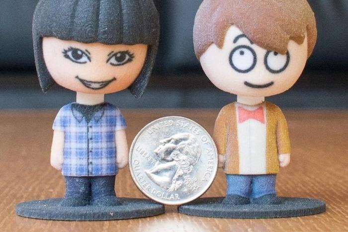 Personnages imprimés en 3D depuis la boutique d'Amazon