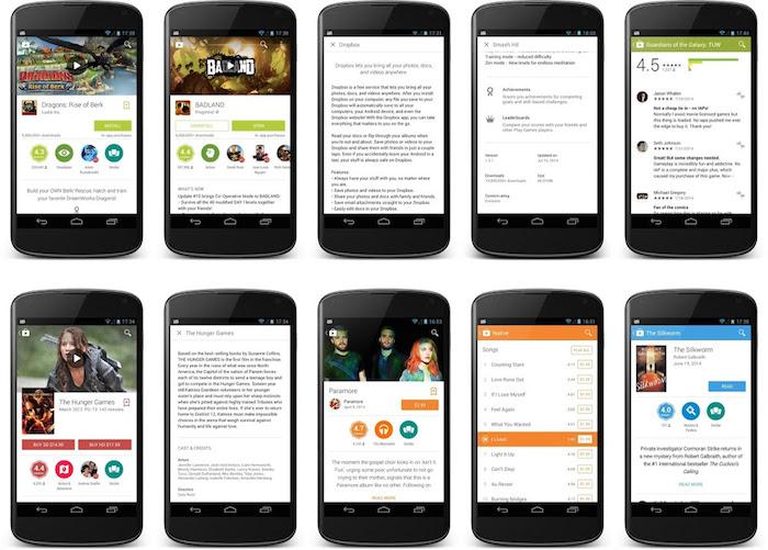Google Play Store 4.9.13 : la refonte visible en vidéo