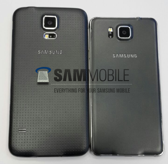 Samsung Galaxy Alpha : vue de dos