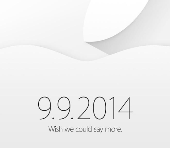 Apple lance des invitations pour le 9 septembre 9. Voici l'iPhone 6 !