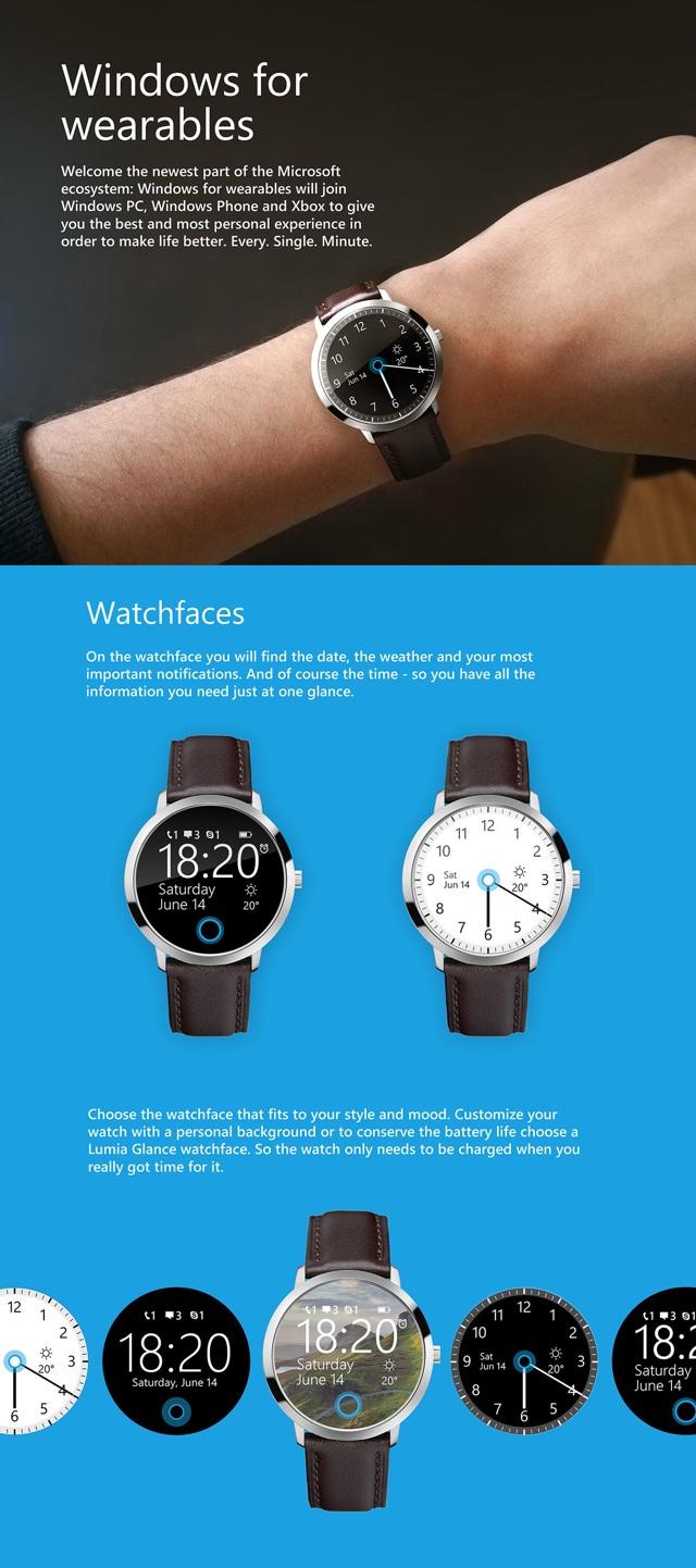 Concept de la smartwatch de Microsoft