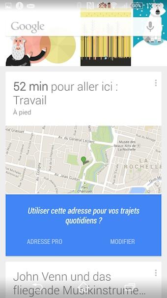 Google Now disponible dans un bureau sur la gauche